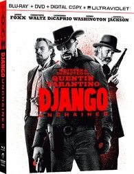 DJANGO UNCHAINED BLU RAY + DVD + ULTRAVIOLET LIKE NEW CONDITION PRIVATE OWNER