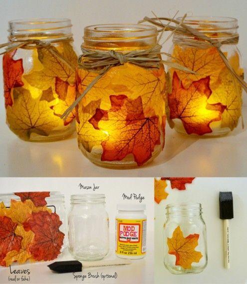 Original DIY herbstliche Kerzenhalter