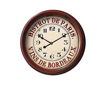 Настенные часы - железо - бордовый - Ш8хØ50