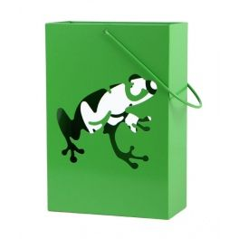 The set includes three lanterns with frogs in three different poses. Set is a perfect throw home and garden decoration.