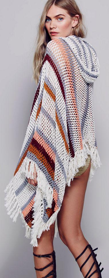 Poncho crochet                                                                                                                                                     Más