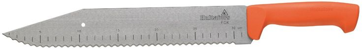 Hultafors 389010 FGK Insulation Knife. The blade is made from 50 mm wide carbon steel. A serrated blade makes it easy to cut through all types of insulation wool. Length: 18,3 inch.