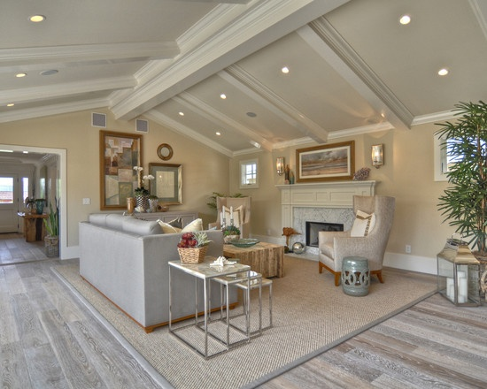 Living Room Living Rooms With Light Grey Tile Floor Design, Pictures, Remodel, Decor and Ideas - page 2