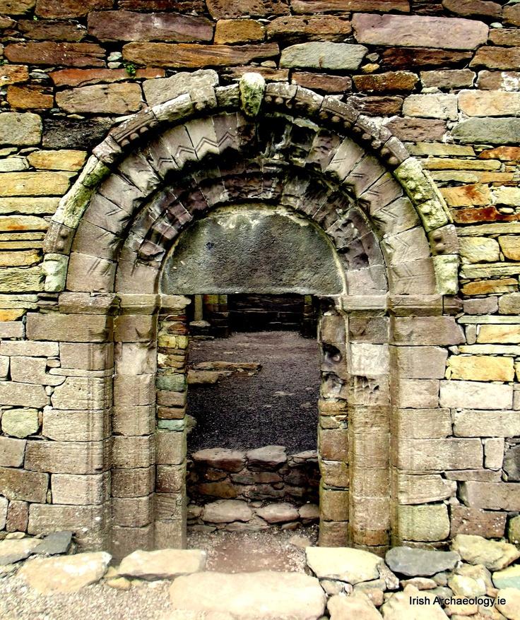 12th century doorway at Kilmalkedar church, Co. Kerry