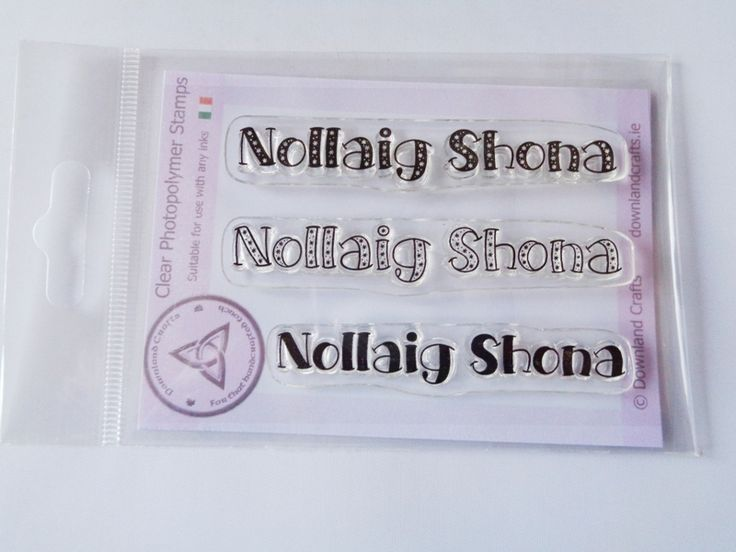 Snowy Nollaig A7 Clear Photopolymer Stamp Set