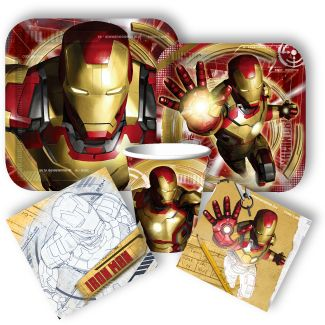 New Iron Man party supplies! Just in time for the movie from www.DiscountPartySupplies.com