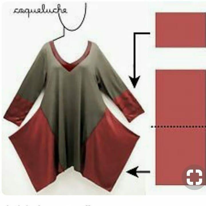 Bu senenin modası bu asimetrik bluzlar, aslında çok basit kalıplara da sahip…