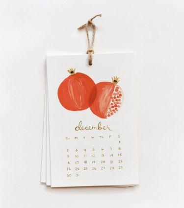 Fruit Calendar! Love the hand-drawn look