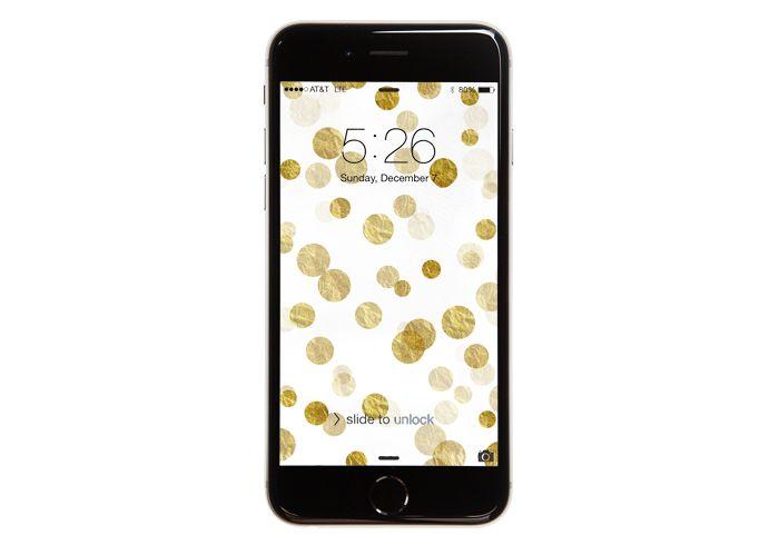 Gold Bokeh Free iPhone Wallpaper