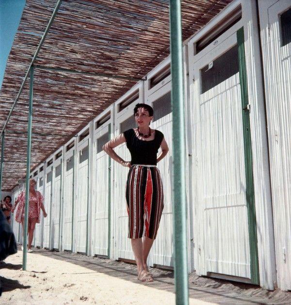 Jacques Henri Lartigue - Florette à la plage du Carlton Cannes 1956