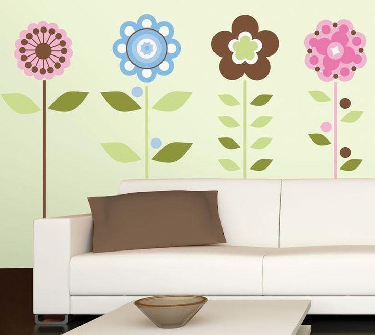 RoomMates - Stora moderna blommor  Pris: 329 kr