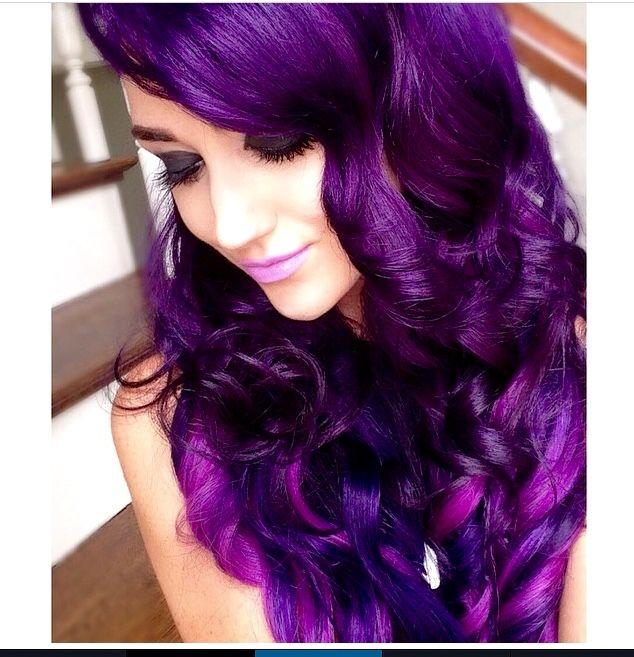 Favourite hair color, violet