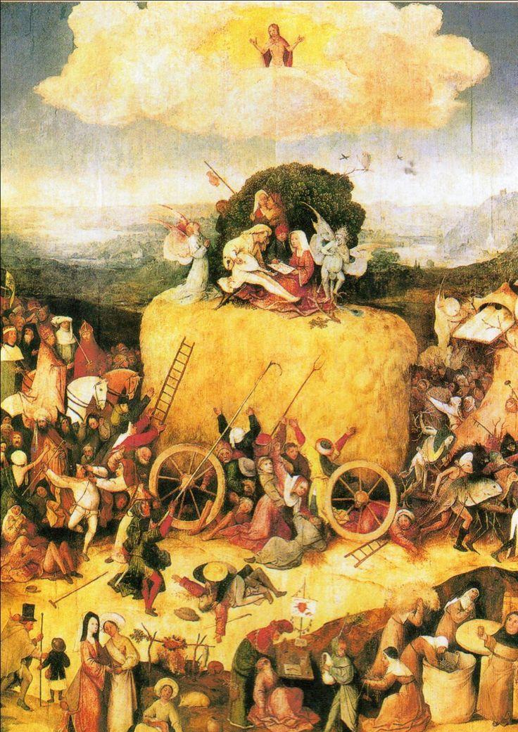 ボス 1500頃 乾草車 マドリード・プラド美術館
