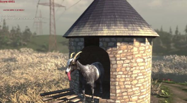 awesome Head butt! Goat Simulator to become a real Steam game