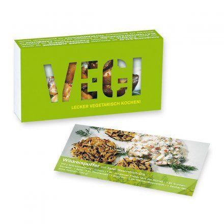Kochbox Vegi von moses. Verlag jetzt im design3000.de Shop kaufen! Lecker vegetarisch kochen! Steak Medium, Bratwurst und Wiener Schnitzel adé ! 39...