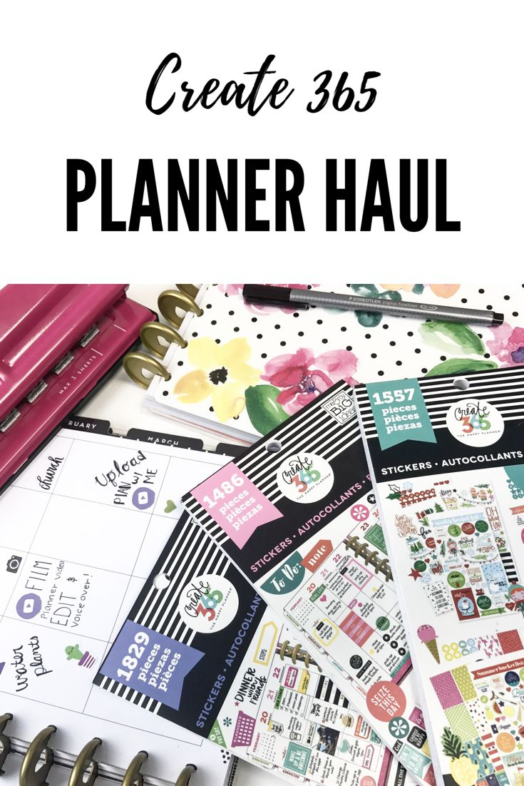 Recollections create 365 planner haul and review for 2017! I have the big happy planner and the normal size happy planner 3 of the create 365 sticker books and a few other planner accessories for it, I also did a planner spread for the. Re year!