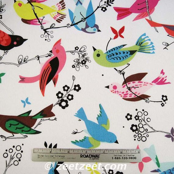 Alexander henry june song i mean could this be any more for Bird nursery fabric