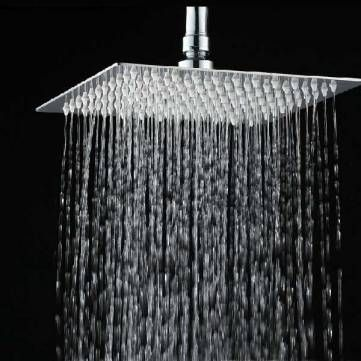8 Inch Stainless Steel Bathroom Square Silver Pressurize Rainfall Shower Head Chrome Finish at Banggood