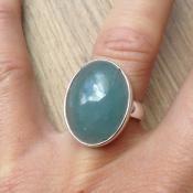 Zilveren edelsteen ring met Aquamarijn maat 17.3 mm | Zilveren Edelsteen Ringen | Zilveren Edelsteen Sieraden | Stones and Silver Wear
