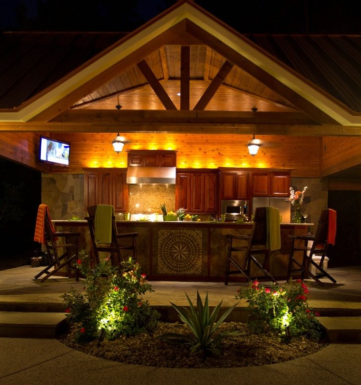 covered outdoor kitchens outdoor kitchens covers - Outdoor Kitchen Lighting Ideas