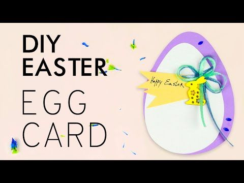 In this tutorial we'll show you the way of making an egg-shaped card. This festive DIY Easter egg will become a nice greeting card! #eggcard #eastercard #diygreetingcard