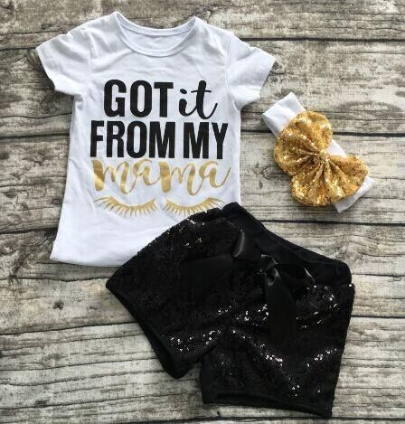 Preorder- Got it from my mama sequin short set - Wholesale Boutique Deals