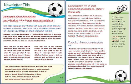 Soccer Template   I Newsletter Templates   Pinterest Soccer Newsletter