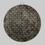 Industrial Gray Metal Stamped Look dartboards