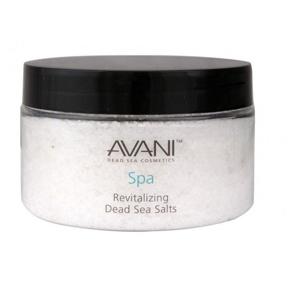 AVANI Revitalizing Dead Sea Salts- Rich in active minerals, trace elements & nutrients these revitalizing Dead Sea salts are an effective home therapy treatment, reducing stress-induced tension & muscular pain. As a cosmetic treatment, these salts contain natural elements that cleanse & purify the skin, leaving it totally radiant & refreshed. #DeadSeaCosmetics
