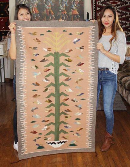 "Bird Native American Rug - Navajo Indoor Outdoor rugs,  Authentic Rugs For Sale  @ foutztrade.com @ Just $1,100.00 Tree of Life rug by Navajo weaver Brittany Segay; 36"" x 61""  #NavajoRugs #NativeAmericanRug #NavajoCrafts #Artworks #NavajoWeavings #NativeAmericanWeavings #Traditional #NavajoCulture #NavajoIndianTribe #IndianAmerican #SouthWestern #Navajomade #Handcrafted #Handmade"