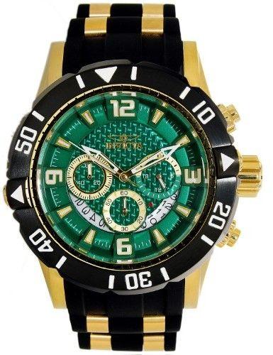 Invicta Men's Pro Diver 23703 Black Silicone Quartz Diving Watch