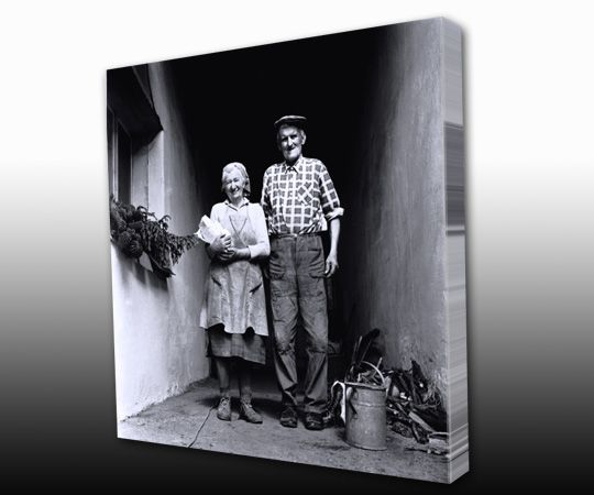 Old Black & White Photograph printed on thin Canvas gallery wrap  by TorontoOnCanvas.com