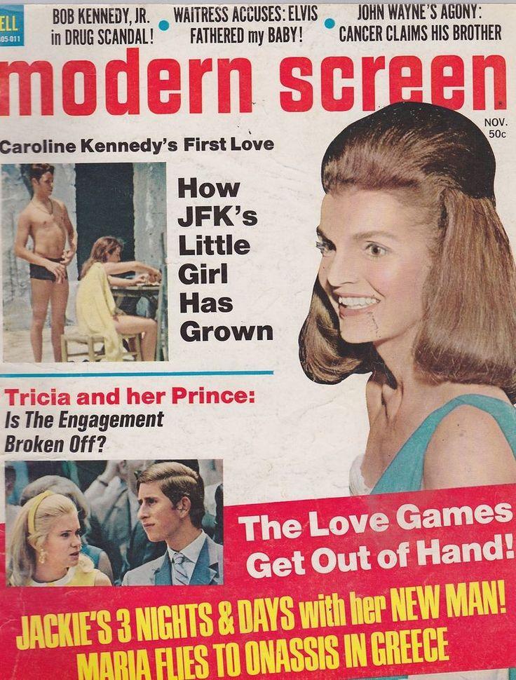 vintage movie magazines   NOV 1970 MODERN SCREEN vintage movie magazine JACKIE KENNEDY - PRINCE ...