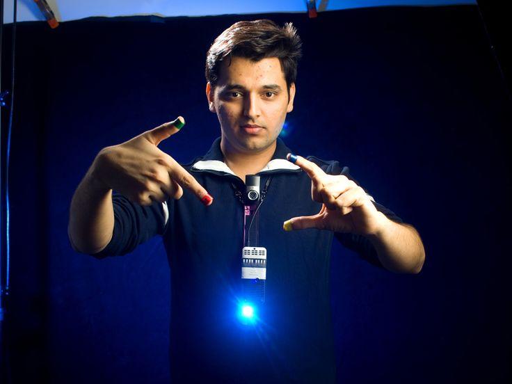 Pranav Mistry with SixthSense prototype