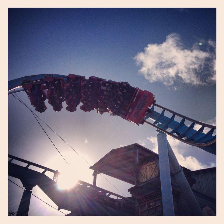 Roller coaster sun