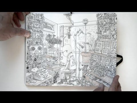 Moleskin notebook videos by Mattias Adolfsson - check some of them out, worth a look!