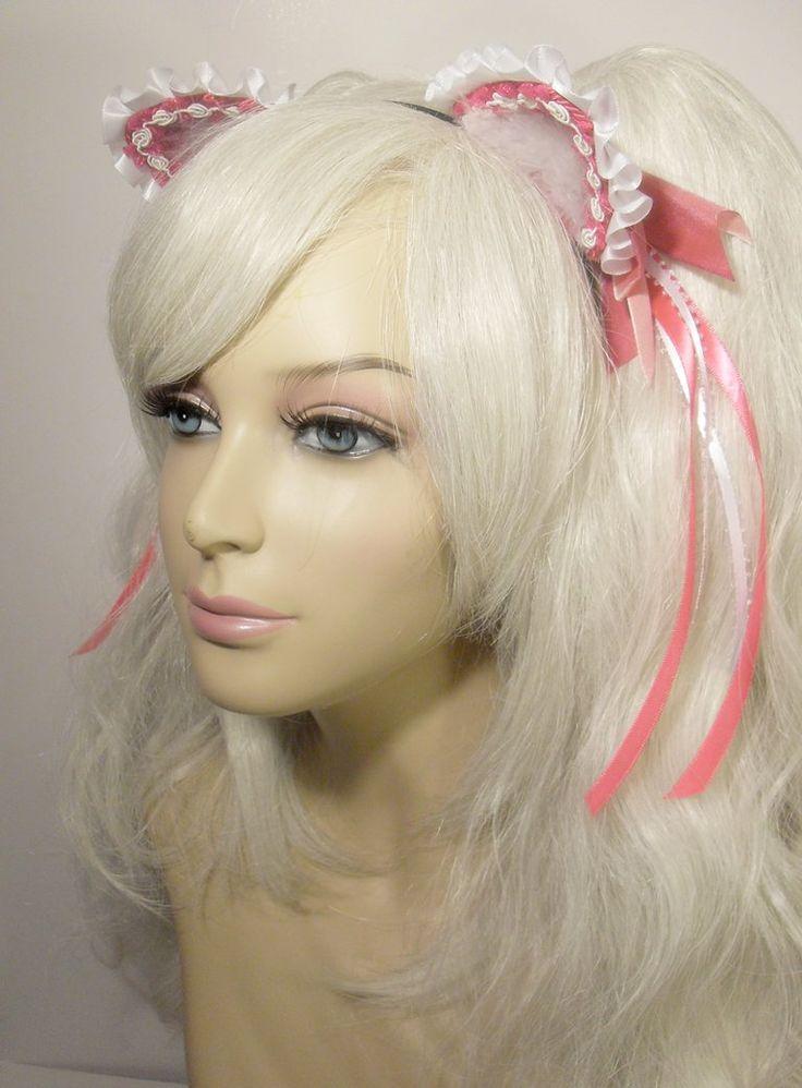 Ярко-розовый Рябить кошачьи уши на jezebelwitch