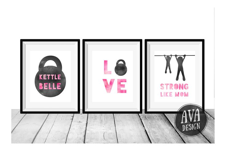 These prints are perfect for the nursery of a little girl who has a fit mom! Pink and black wall art that looks feminine and understated at the same time; a great baby shower gift for a fit mom-to-be :)  BONUS Free print: Strong Like Mama as an alternative to Strong Like Mom.  This listing is for an instant download — You will receive three 8x10 inch JPEGs that you can print at home or at your local print shop.  A link to your download will be emailed to you as soon as payment is processed…
