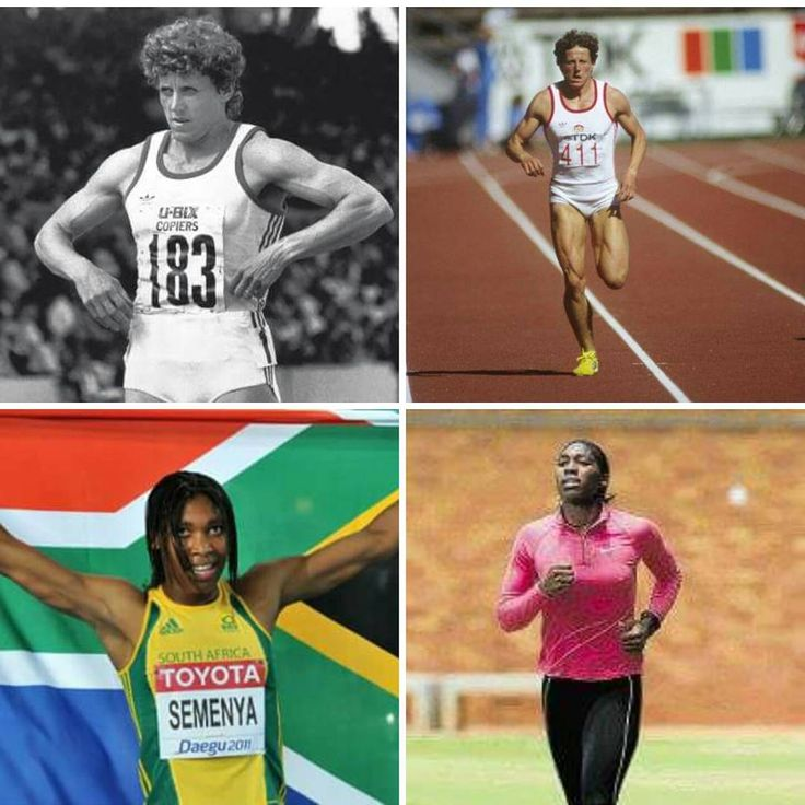 Unbelievable. Can you guys take a peek at this level of hypocracy  Jarmila Kratochvílová is the current 800m women's world record holder.  Caster Semenya is expected to win the 800m in Rio at the Olympic Games this month.  #SebastianCoe, please compare these photos and explain why Jarmila's record is not in jeopardy, but Caster is forever in the spotlight with threats that she may not participate.  You go, Caster, the entire South Africa is behind you!  #Rioolympics #Rio2016 #Rio…