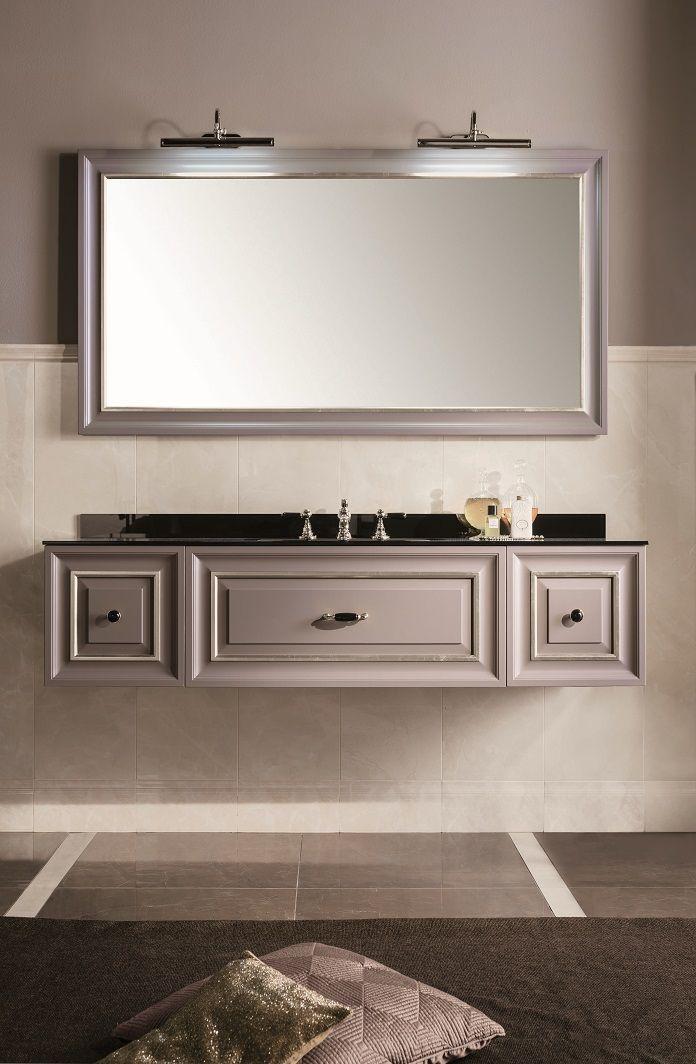 Composizione Sipario #GaiaMobili #gaia #bathroom #bagno #bathroomideas #bath #madeinitaly #italian #bathroompics #architect #interior #interiordesign #designer #furniture #wood #laccato #ral #lacquered #arredamento #showroom #mirror #luxurybathroom #classic #classicbathroom #arredobagno #mobiledabagno #italianstyle