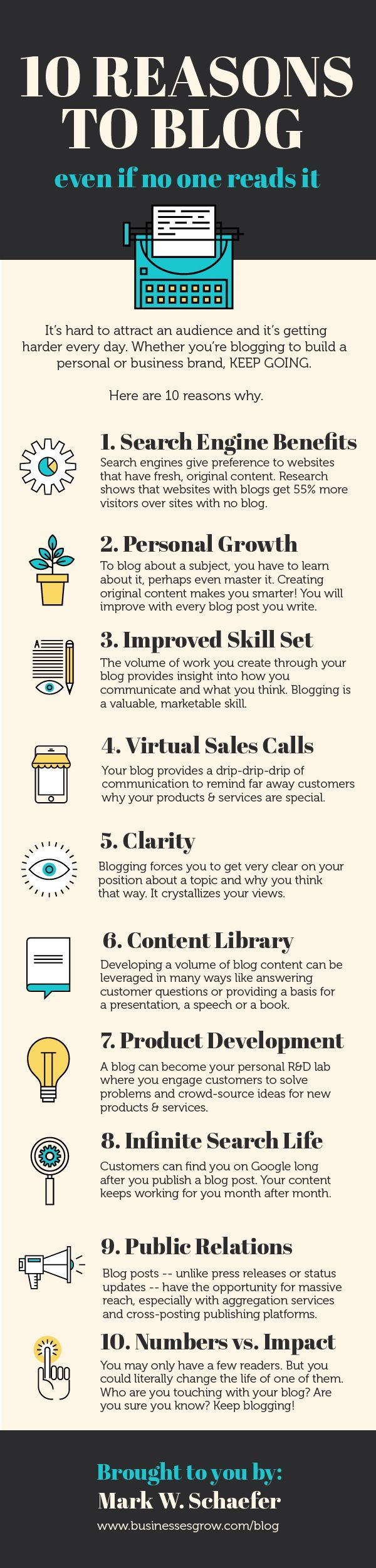Nobody reading your blog? Trust @markschaefer and persist! Here's 10 reasons why you should keep blogging.