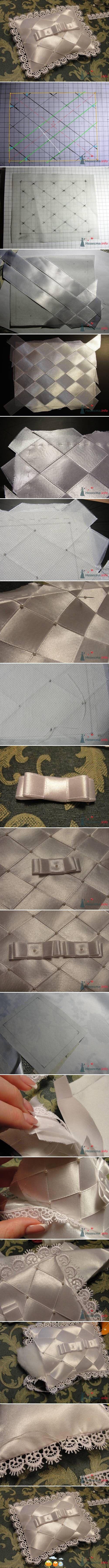 Pretty idea for a ring pillow