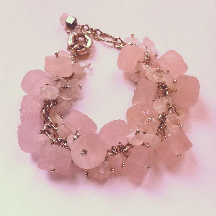Браслет ручной работы из розового кварца. Handmade bracelet.