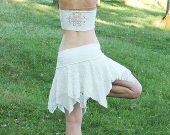 Faery lace tutu rok. Lace skirt. Pixie lace skirt. Boheemse