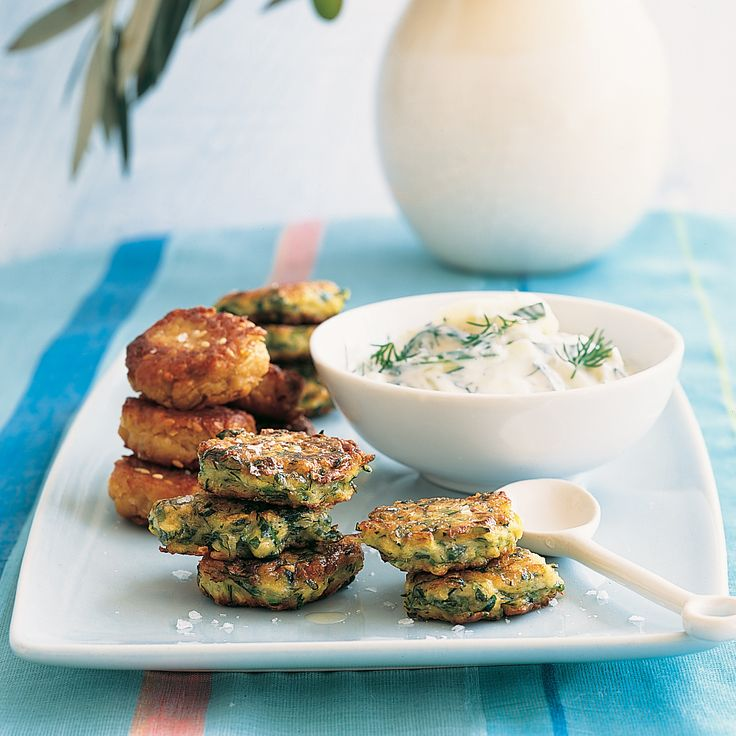 ... Fritters with Tzatziki | Recipe | Sauces, Zucchini and Fritters
