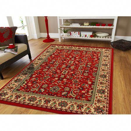 Free Shipping Buy Traditional Area Rugs On Clearance 5x7 Persian Rug For Living Room 5x8 Red At Walmart Com Ru Rugs On Carpet Traditional Area Rugs Cool Rugs