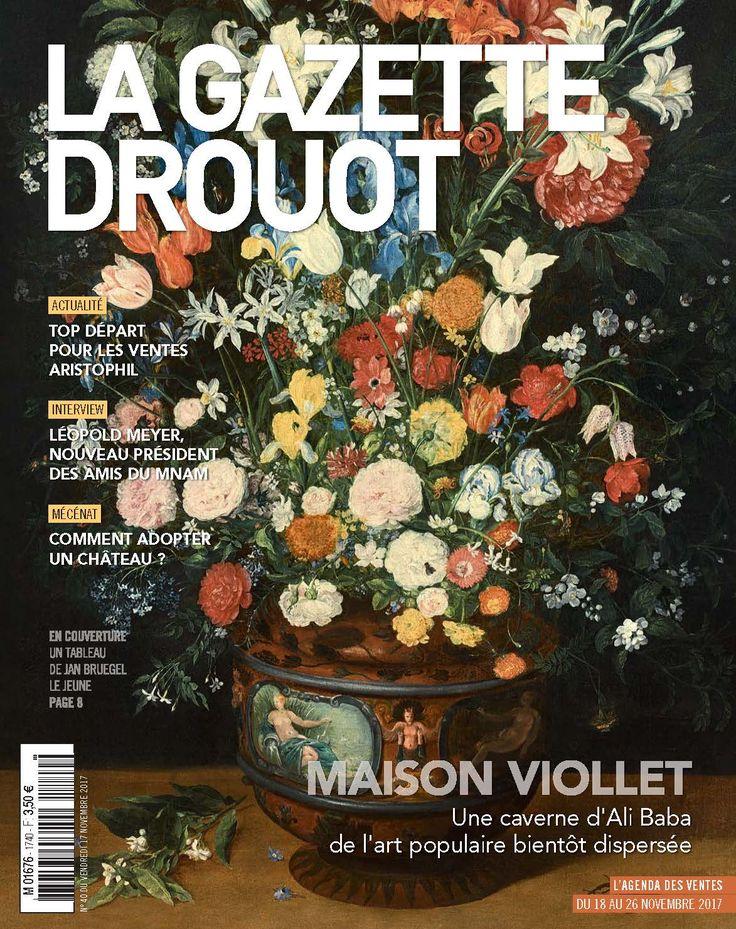 Gazette Drouot n°40 du 17 novembre 2017. #JanBruegel #NatureMorte #Fleurs #Bouquet #OldPainting #WebZine #ArtMarket