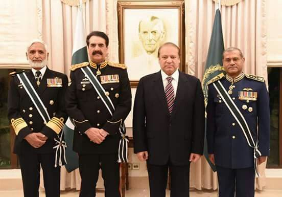 Farewell dinner in the honor of outgoing Army Chief Gen Raheel at Prime Minister House