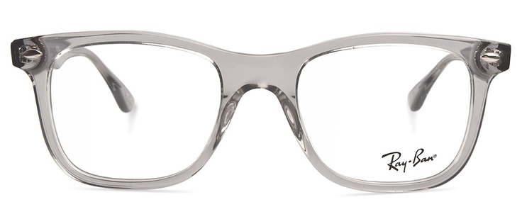 clear ray ban eyeglass frames  ray ban 5248 2102 transparent grey