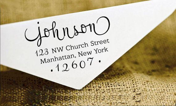 These Custom return address stamps will give your regular mail, stationery, or invitations a touch of style. Custom stamps work beautifully on